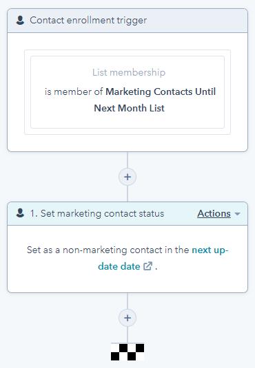 Set as Non-marketing Contact workflow